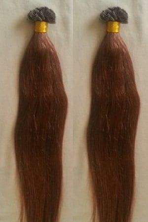 18 22 100grams 100strands U Tip Nail Fusion Keratin Pre Bonded Remy Human Hair Extensions 6 Medium Chestnut Brown
