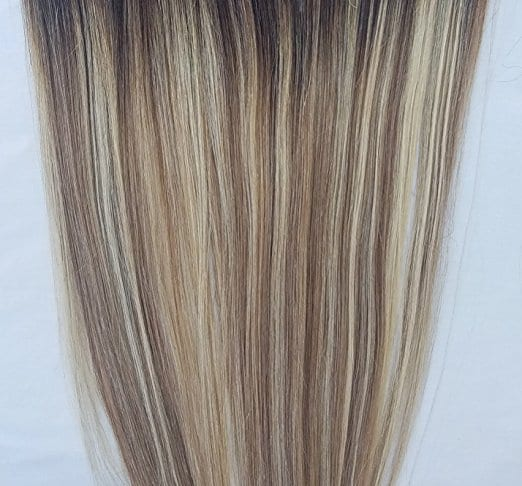 18 20 100 Ombre BALAYAGE Human Hair Extensions Halo