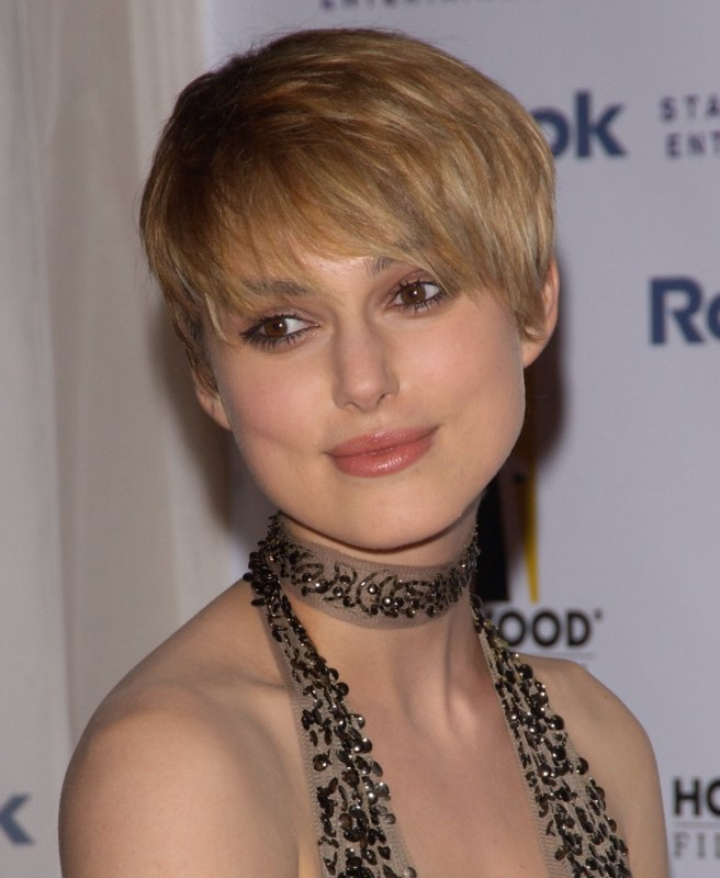Male Haircuts Back Keira Knightley 39;s Extra Short Haircut With Forward Styling