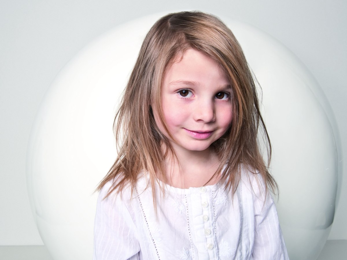 Long Layered Hairstyle For Little Girls With Fine Hair