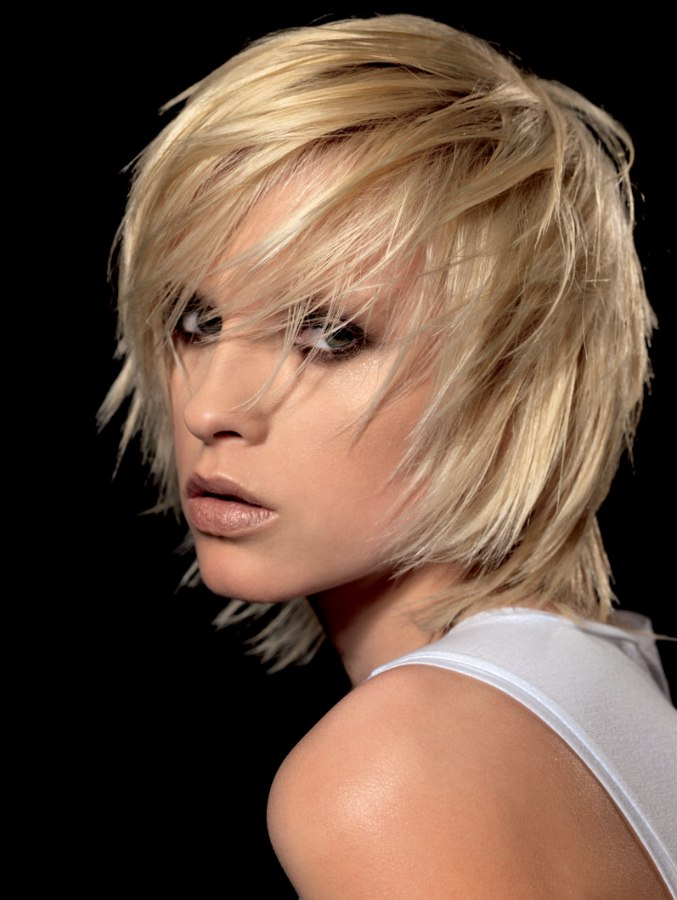 Shag Hairstyle With Razor-cut Layering And Tousled Styling