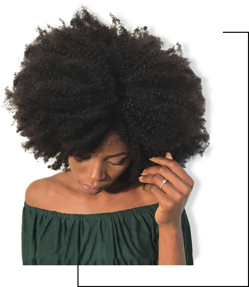Cheveux crépus ou frisés