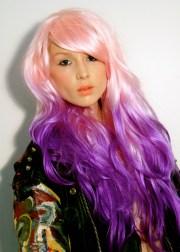 baby pink purple dip dye