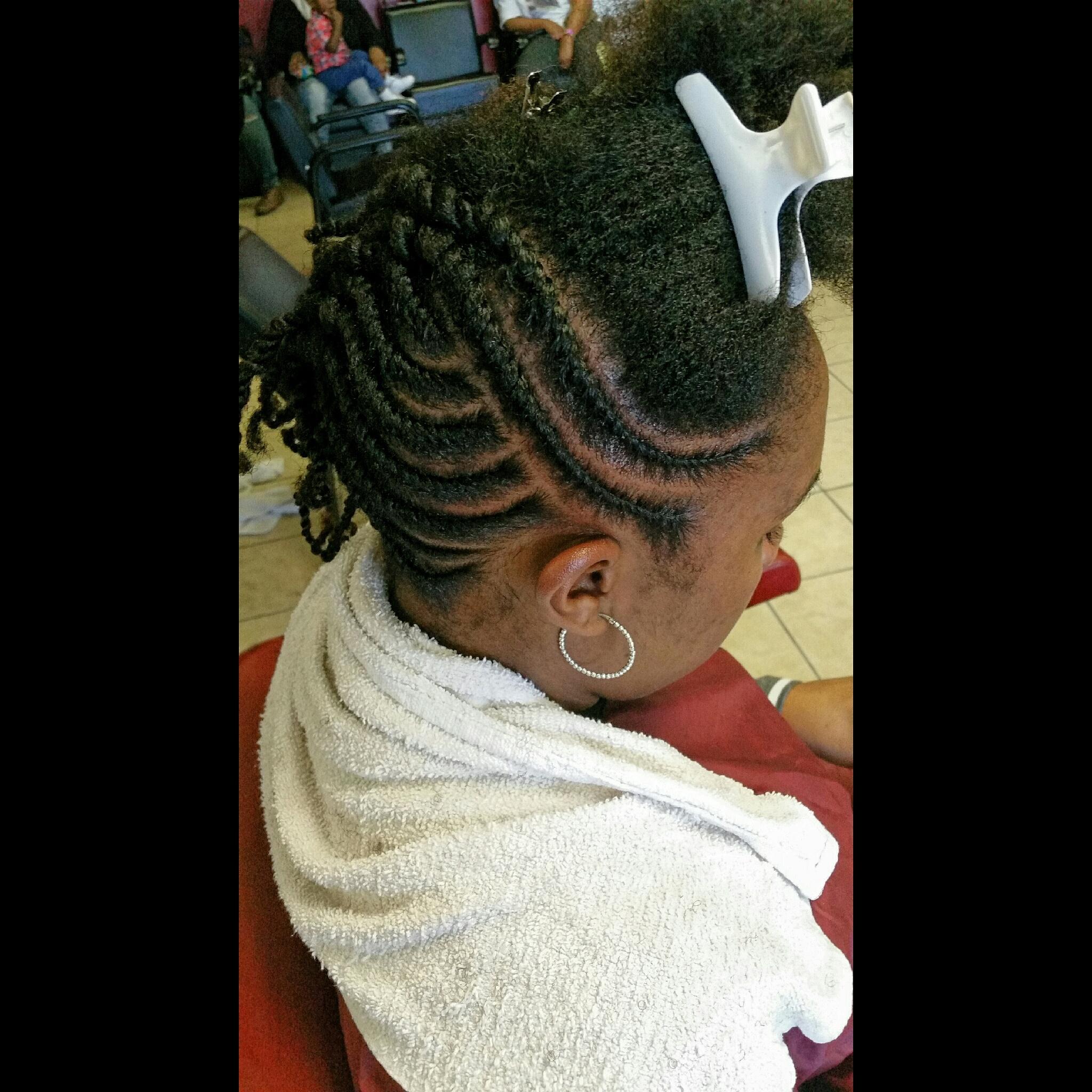 Flat Twist Updo For Natural Hair The Hair Garden Nursery