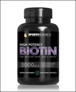 Biotin-(High-Potency)-5000mcg-Per-Veggie-Softgel;-Enhanced-with-Coconut-Oil-for-better-absorption;-Supports-Hair-Growth,-Glowing-Skin-and-Strong-Nails