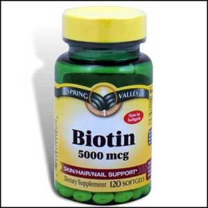 Spring-Valley---Biotin-5000-mcg,-Super-Potency,-120-Softgels