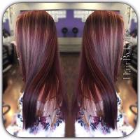 Burgundy With Blonde Highlights Hair Color - Hairs Picture ...