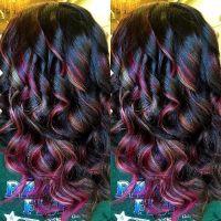 Hair Color Ideas Burgundy Hair Color With Blonde ...