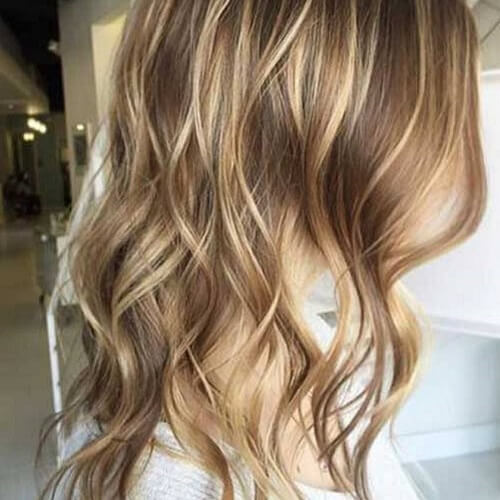 Brown hair with chunky blonde highlights underneath hairsstyles 50 charming brown hair with blonde highlights suggestions pmusecretfo Choice Image