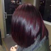 beautiful plum hair color ideas