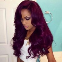 plum hair color on natural african american hair plum hair ...