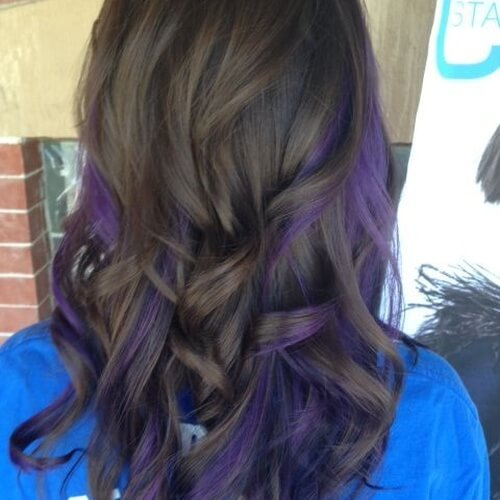 30 Hairstyles Purple Peekaboo Highlights Hairstyles Ideas Walk