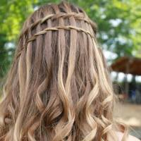 50 Captivating Waterfall Braid with Curls Ideas | Hair ...