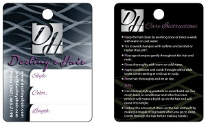 Hair TagsHang Tags With Sizes Options And Pricing From