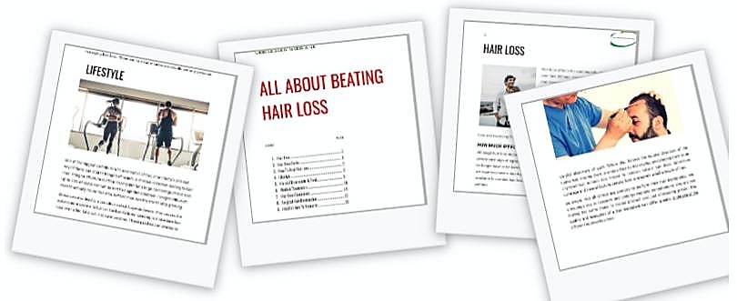 Get in touch free Hair Loss Guide