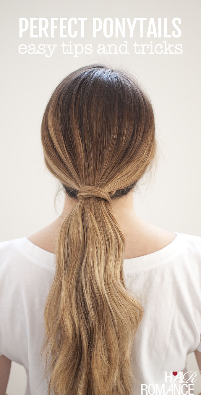 Ponytail With Hair Wrapped Around : ponytail, wrapped, around, Perfect, Ponytails, Bungee, Elastic, Romance