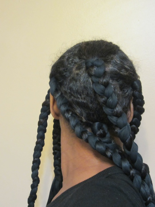 Satin Scarf Braid Out Hairscapades