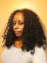 Dry hair prior to detangling.