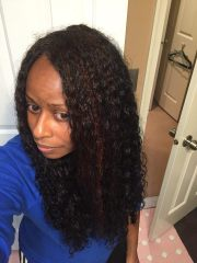 ve straight hair natural