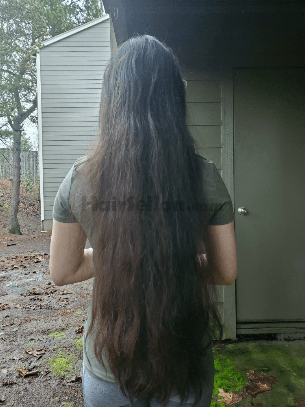 full hair from behind