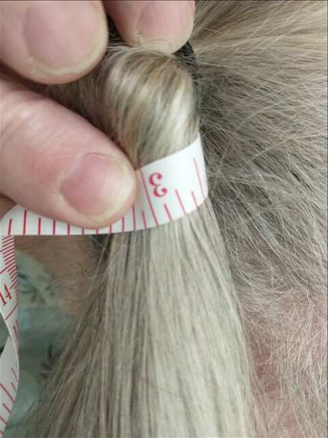 Blonde and silver virgin male hair