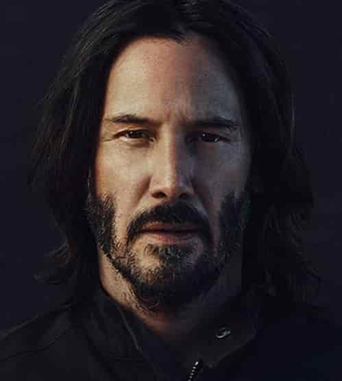 KEANU REEVES HAIR AND BEARD STYLE