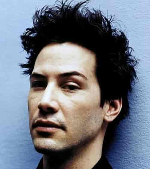 KEANU REEVES SHORT MESSY SPIKY HAIR