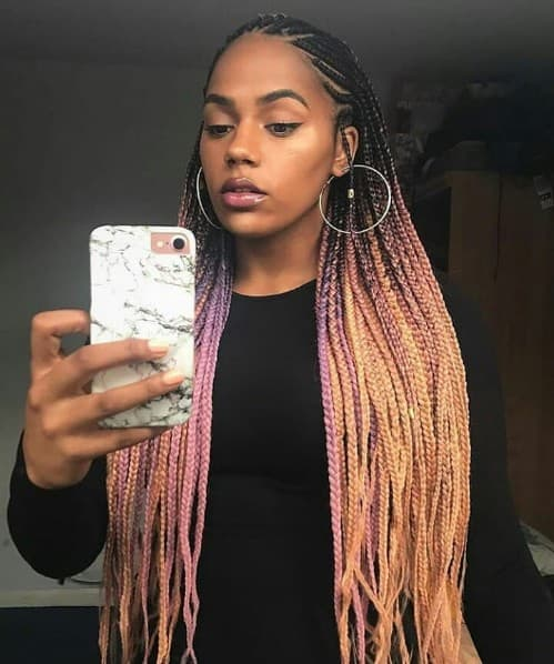BLONDE OMBRE BRAID HAIR COLOR