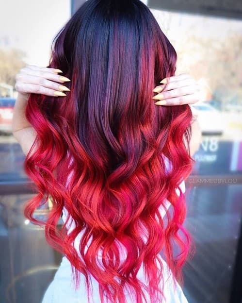 31 Red Ombre Hair Color Ideas For Every Woman (BEST