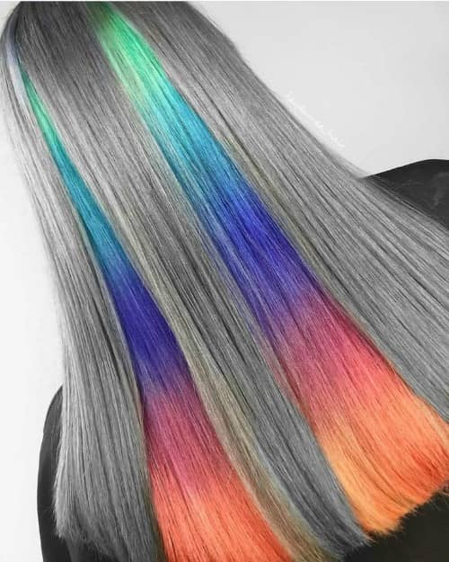 OMBRE UNDERNEATH HAIR COLOR