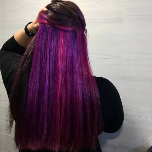 RED AND PURPLE UNDERLYING