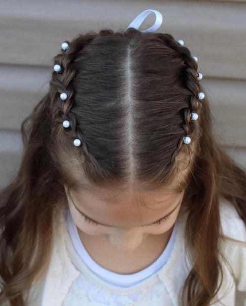 Half-way French Braid Hairstyle