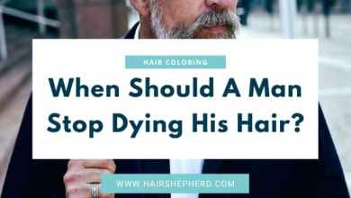 When Should a Man Stop Dying His Hair