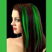 gorgeous green hair shines