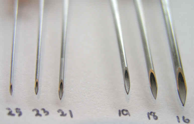 FUE needle size