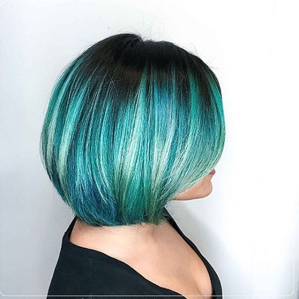 25 Black And Blue Hair Color Ideas [October, 2018]