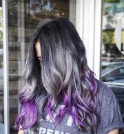 cool black and grey hair color