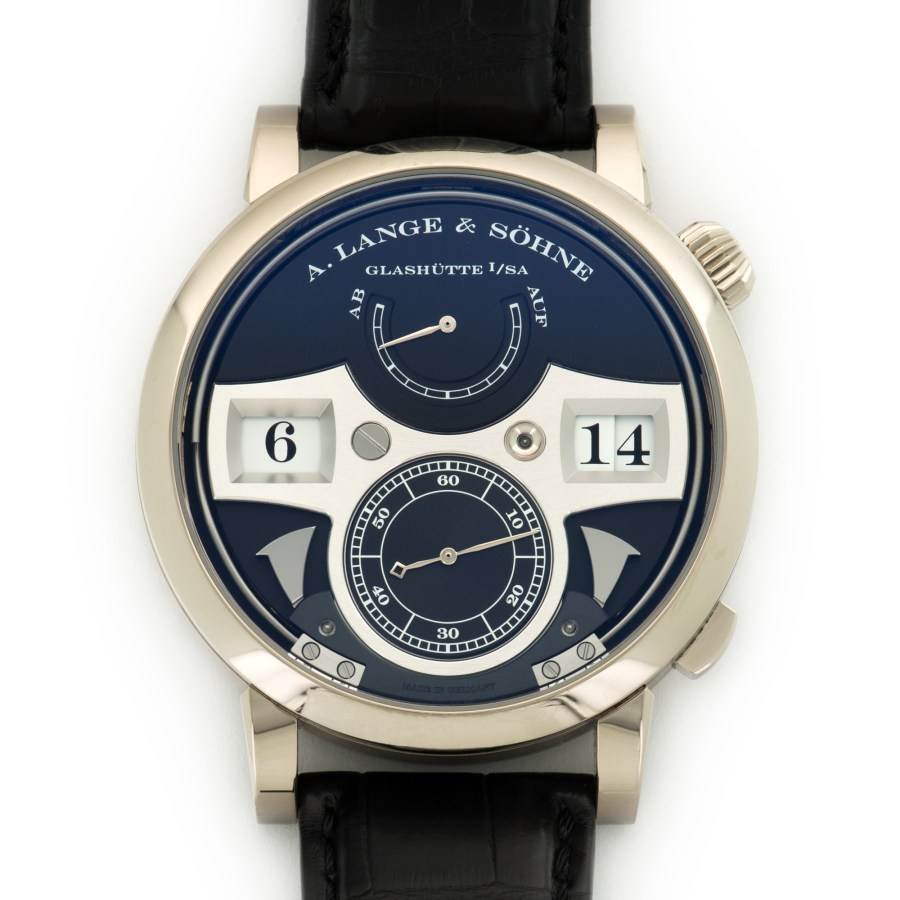 A Lange Sohne Zeitwerk Striking Time Dial