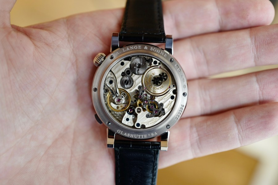 A Lange Sohne Zeitwerk Striking Time Movement