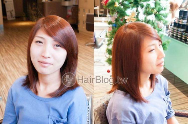 橙紅色系列髮色+瀏海過直燙彎處理【2015年式】
