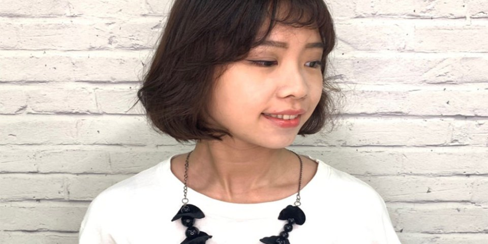 『韓國C字彎燙髮』短髮燙髮作品