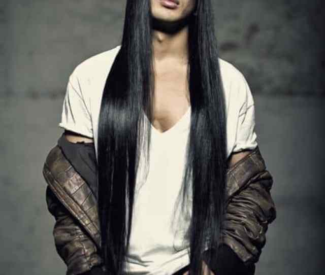 Asian Men With Long Hairstyle