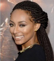 funky box braids women