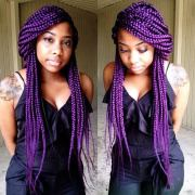 funky box braids women