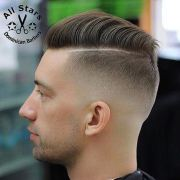 7 taper fade comb over hairstyle