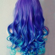beautiful blue and purple hair
