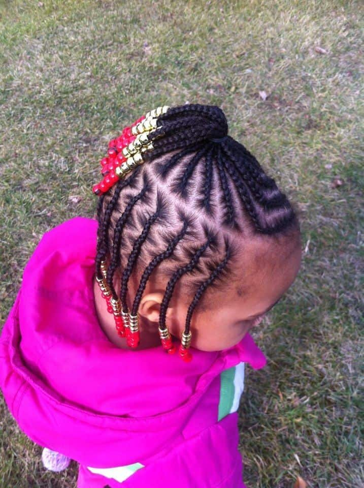 21 Attractive Little Girl Hairstyles With Beads Hairstylecamp
