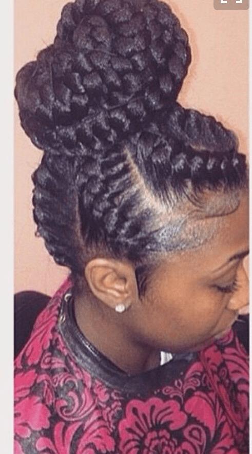 black under braid hairstyles