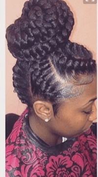 black under braid hairstyles