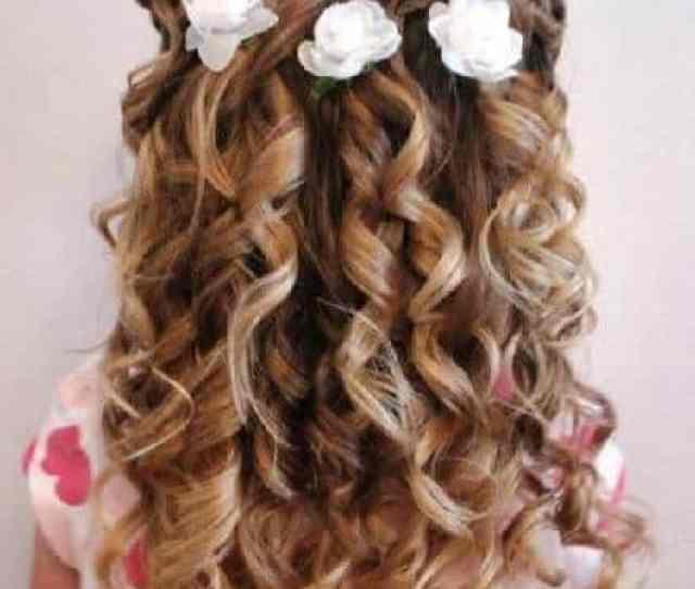 Flowery Curls For Little Girl